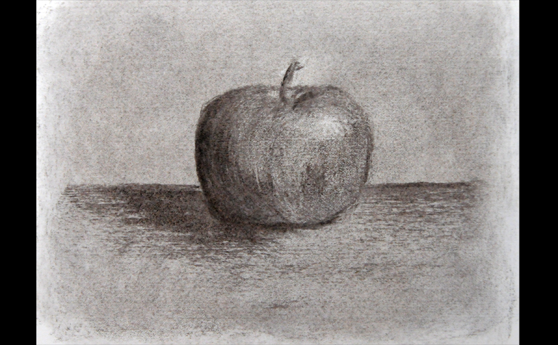 Drawing 1: Imaginary object. Vine charcoal.