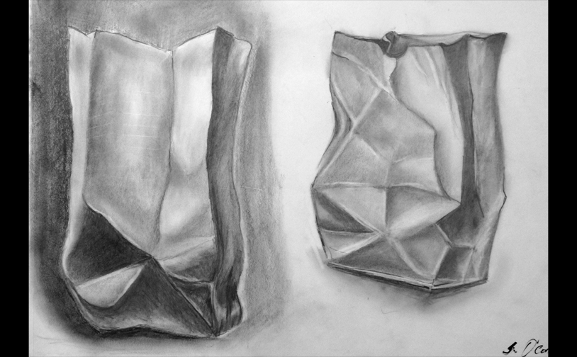 Drawing 1: Tonal value control in graphite.
