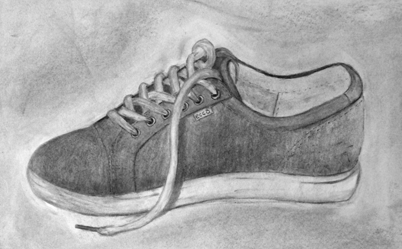 Drawing2: Personal object in vine charcoal and charcoal pencils.